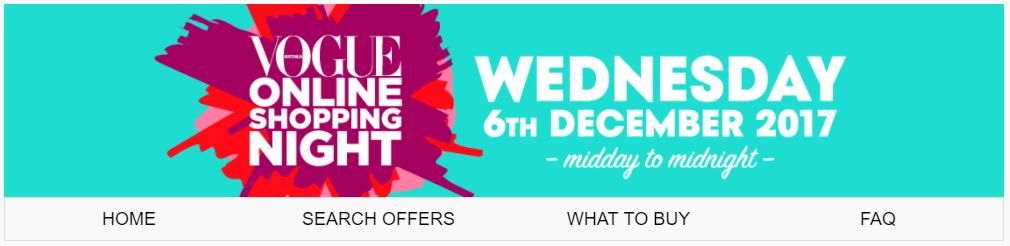 vogue online shopping night banner