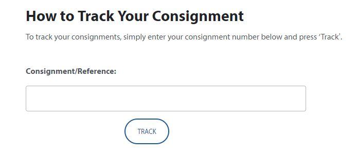 track consignment on contact page