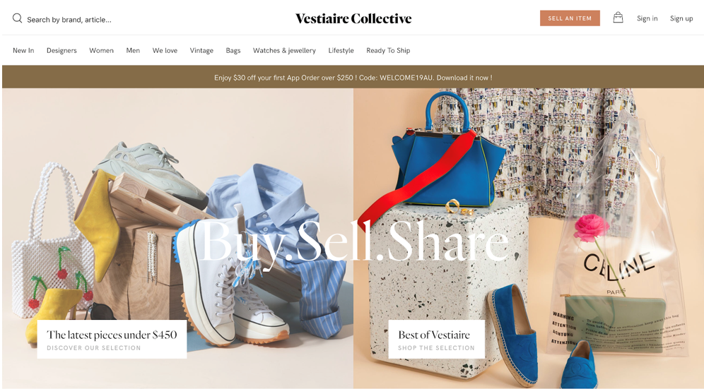 Vestiaire Collective website