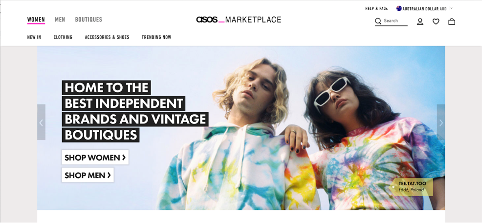 Asos Marketplace website