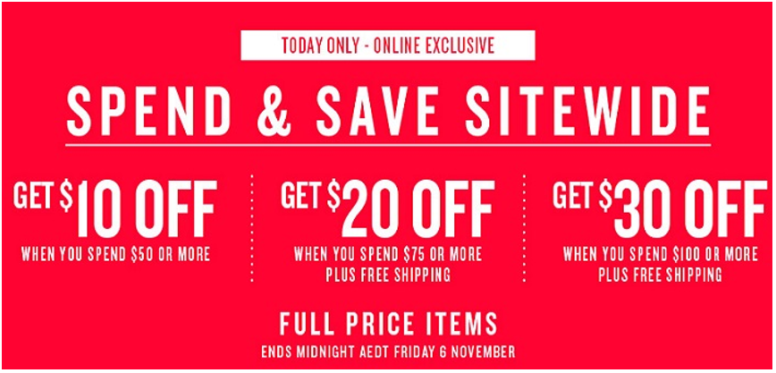 cotton on spend and save promo